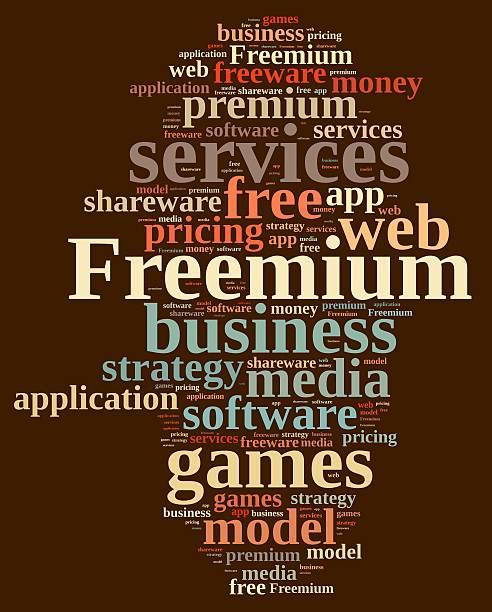 freemium. - kostenlose onlinespiele stock-fotos und bilder