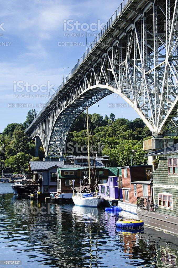 Freemont houseboats stock photo