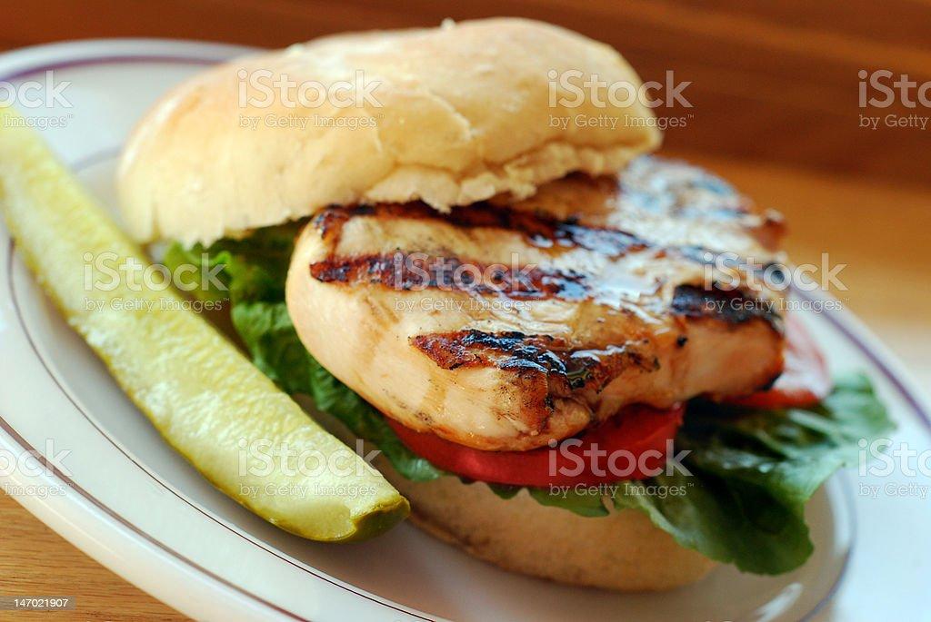 Free-range grilled chicken sandwich stock photo