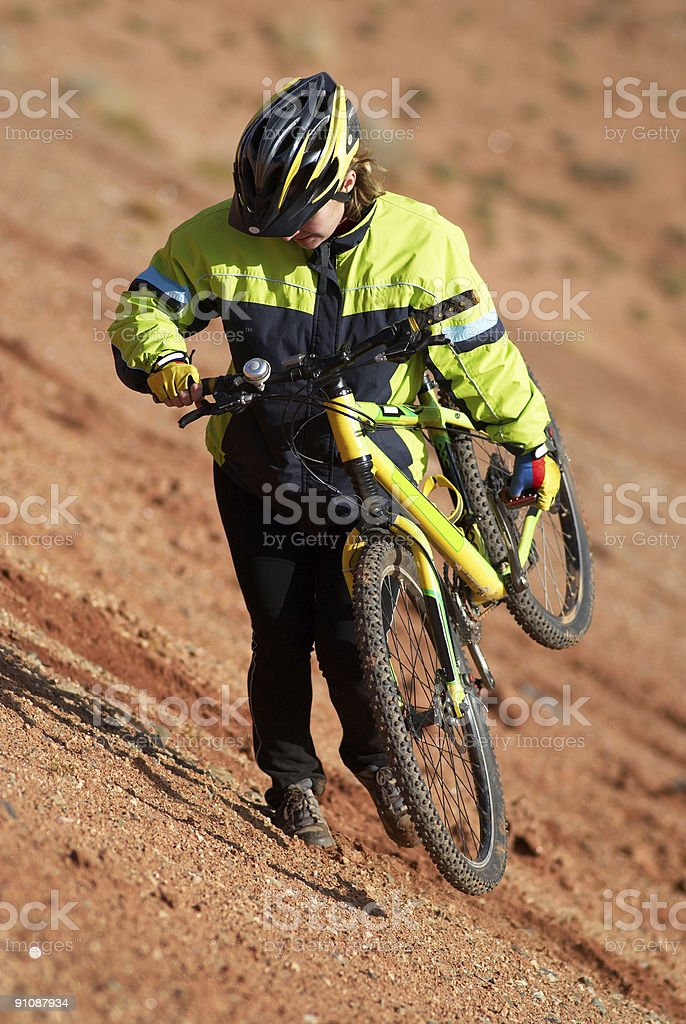 Freeride on red canyon royalty-free stock photo