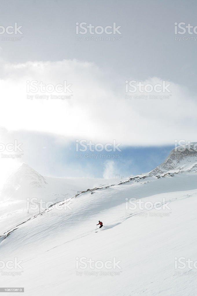 freeride skiing stock photo