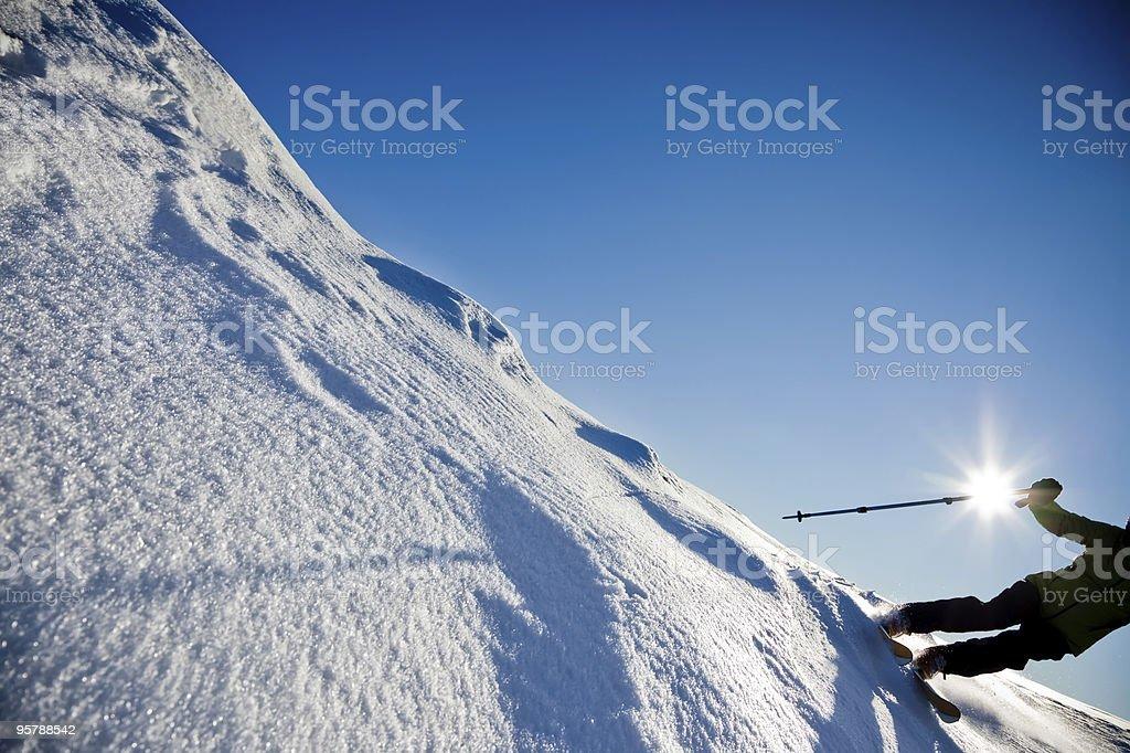 Freeride skiing royalty-free stock photo