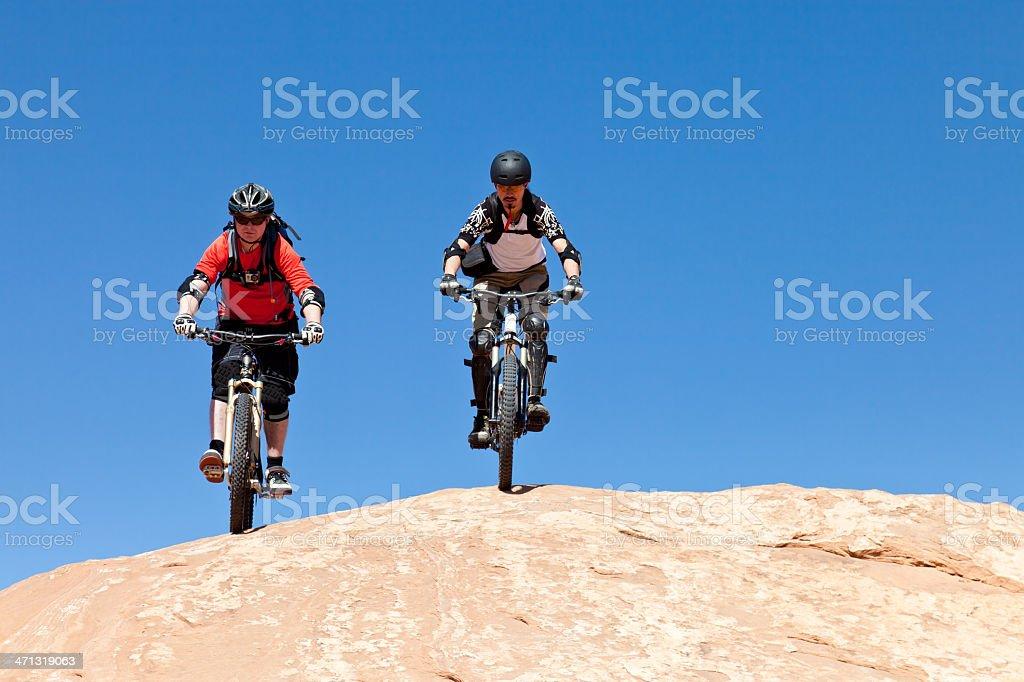 Freeriders on the Rocks, Utah stock photo