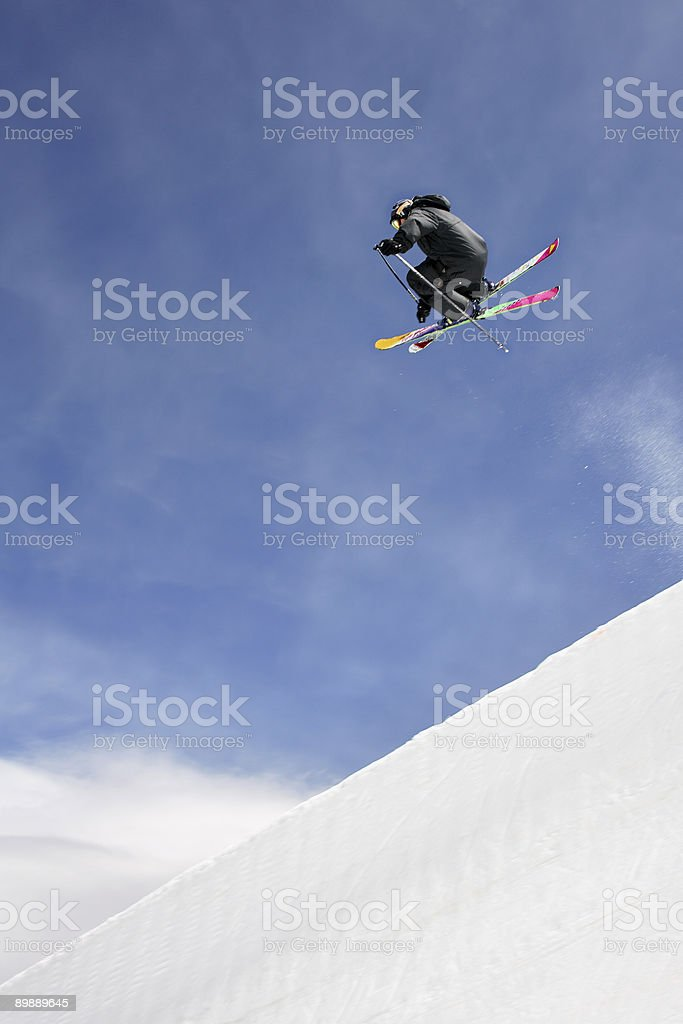 Skieur free ride photo libre de droits