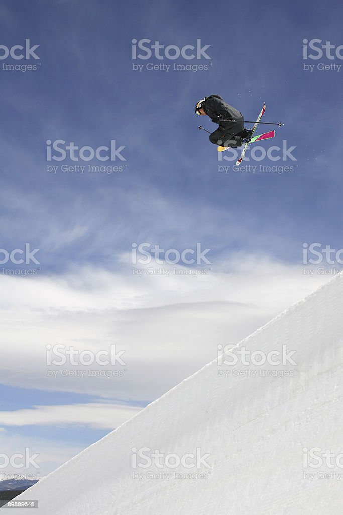 Freeskier royalty free stockfoto