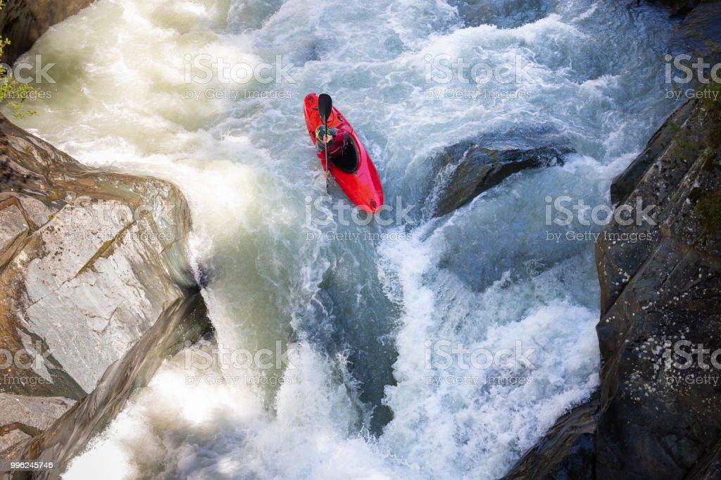 Freestyle kayaker stock photo