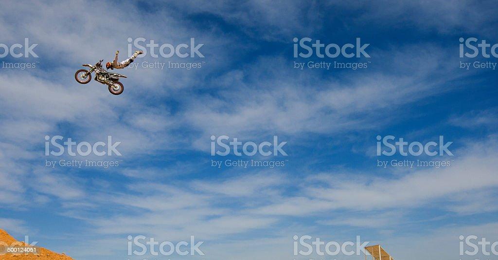 Freestyle Motocross Fahrer - Lizenzfrei Abenteuer Stock-Foto