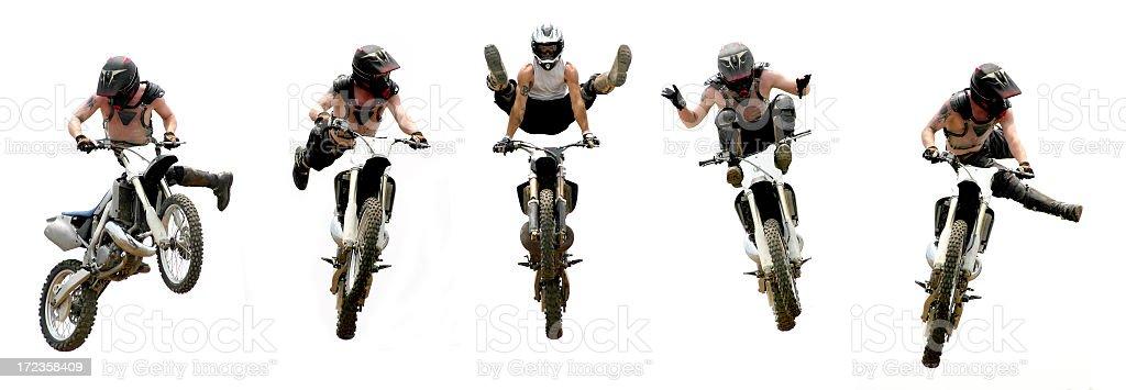 Freestyle Motorcycle truco lista foto de stock libre de derechos