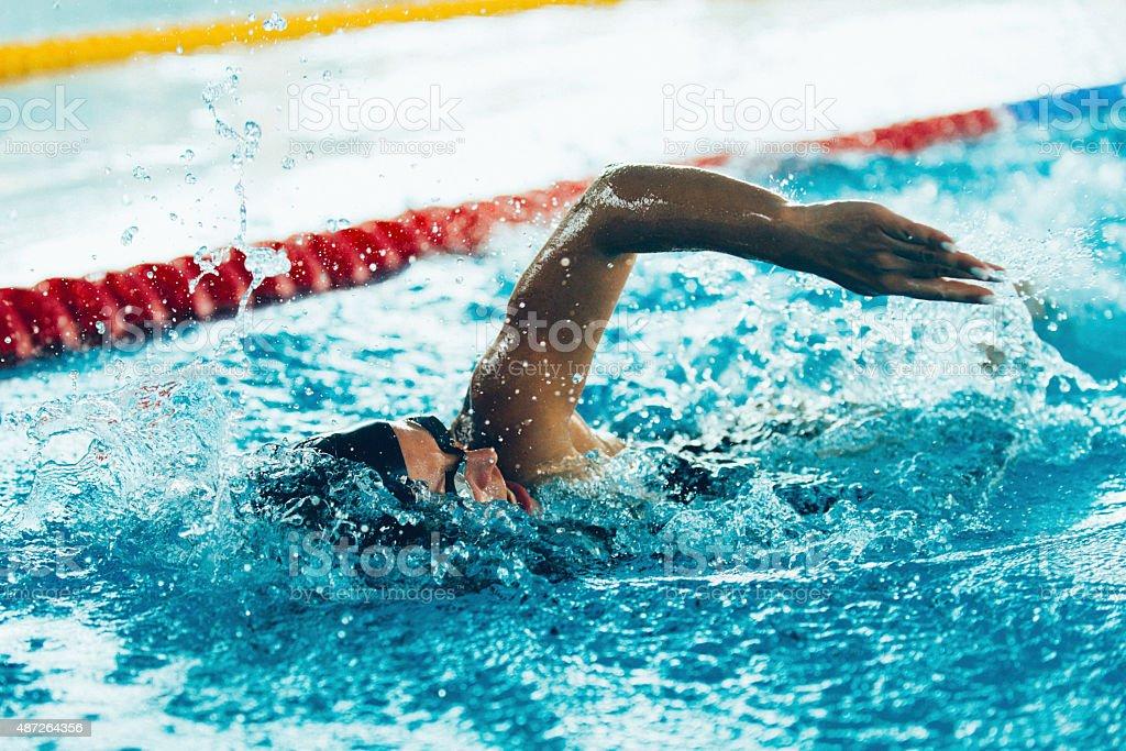 Freestyle Swimming stock photo