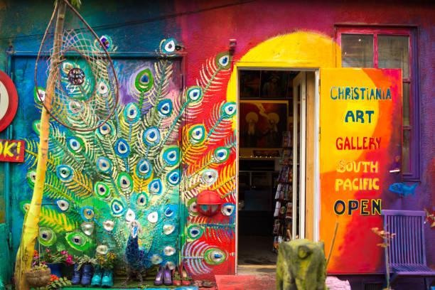 Freetown Christiania stock photo