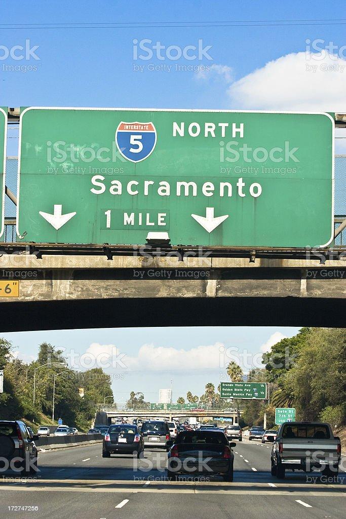 Freeway Driving stock photo