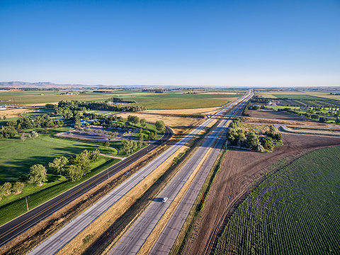 Freeway In Northern Colorado Stock Photo - Download Image Now