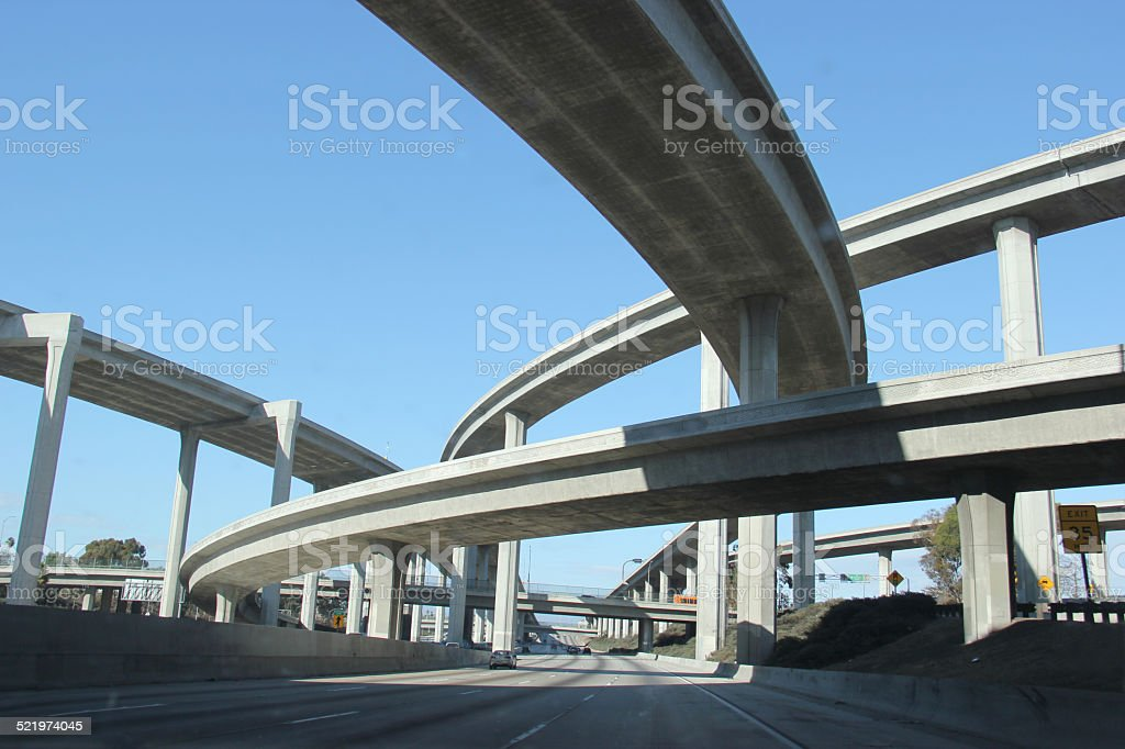 Freeway in Southern California stock photo