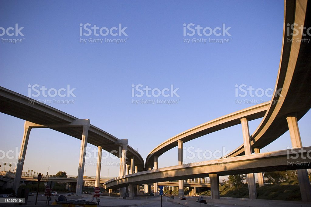Freeway Interchange royalty-free stock photo