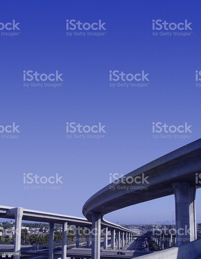 Freeway Overpass royalty-free stock photo