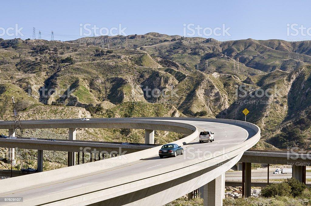 Freeway Overpass stock photo