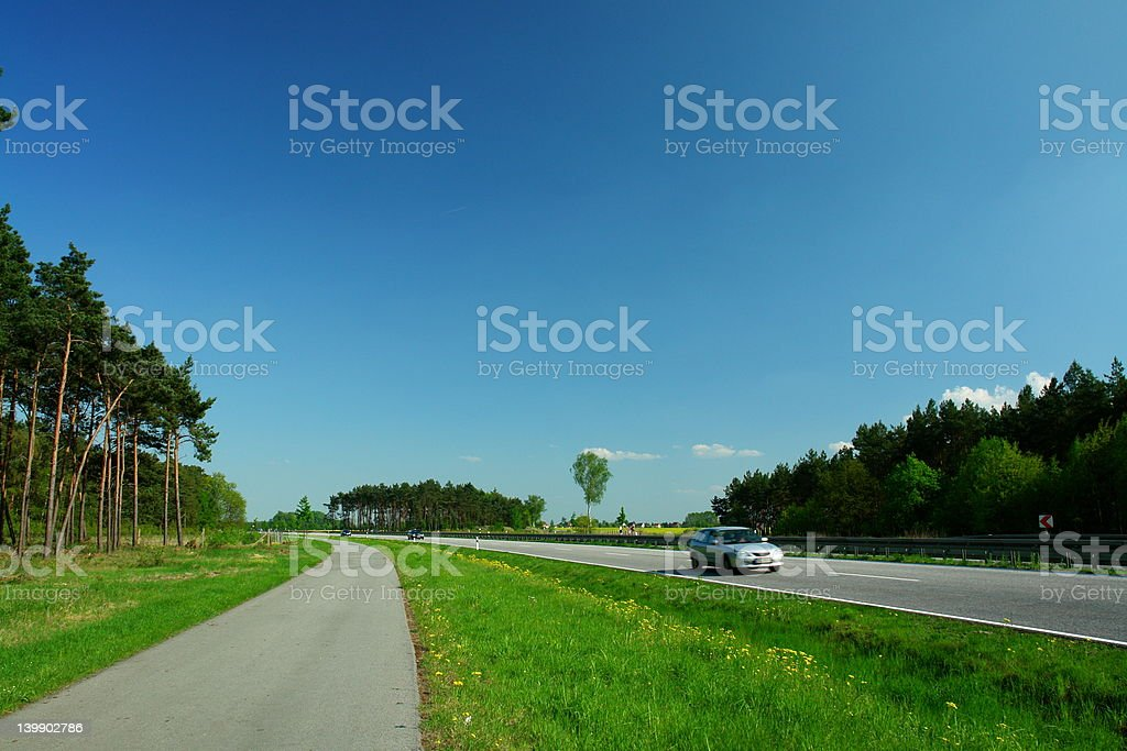 Freeway royalty-free stock photo