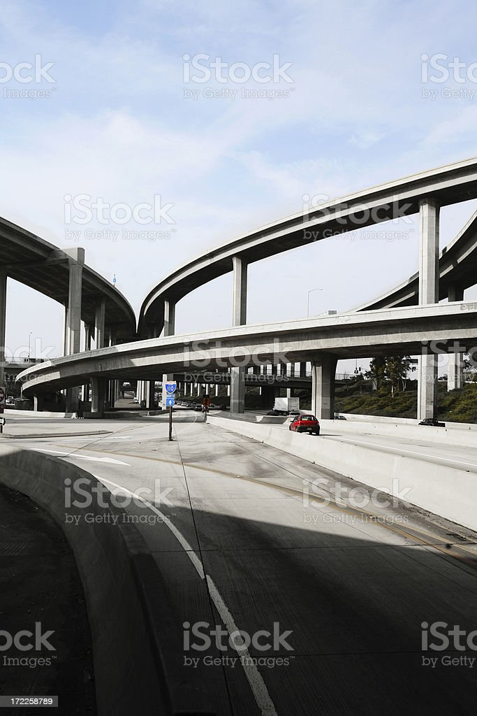 Freeway royalty-free stock photo