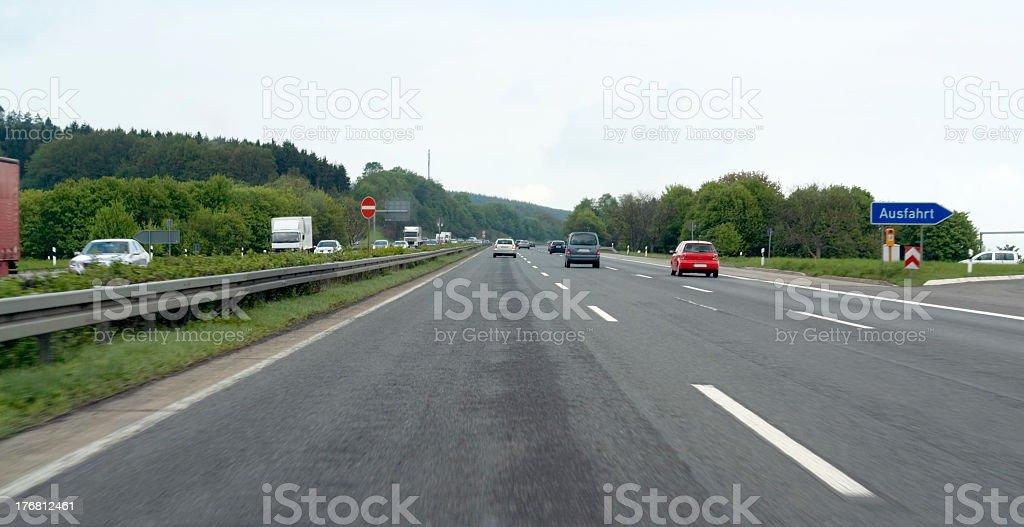 freeway scenery in germany stock photo