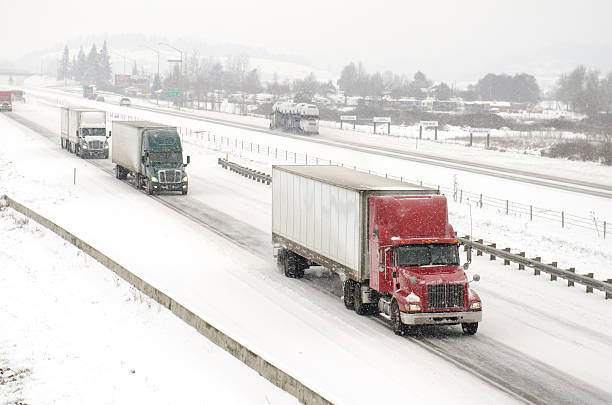 Freeway Snow stock photo