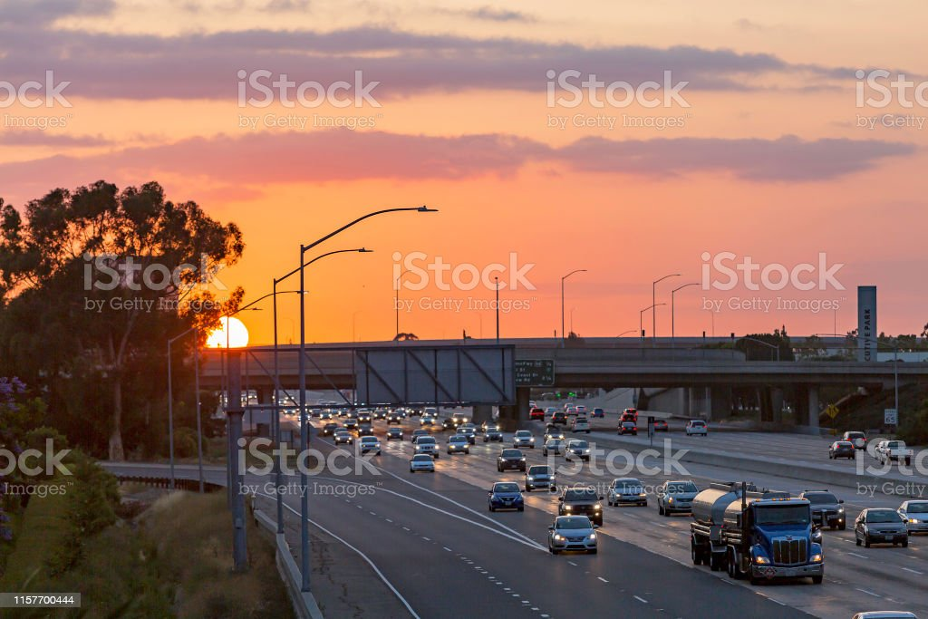5 Freeway Southern California Long Exposure Stock Photo - Download Image Now