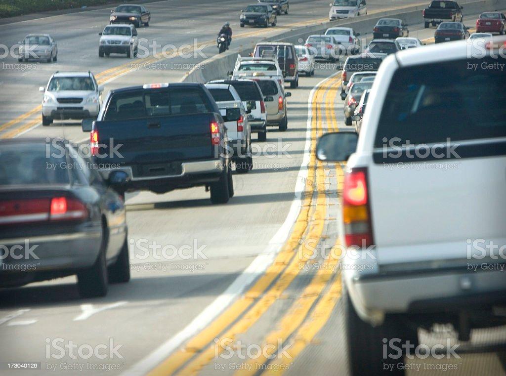 freeway traffic  (#50 of serise) royalty-free stock photo