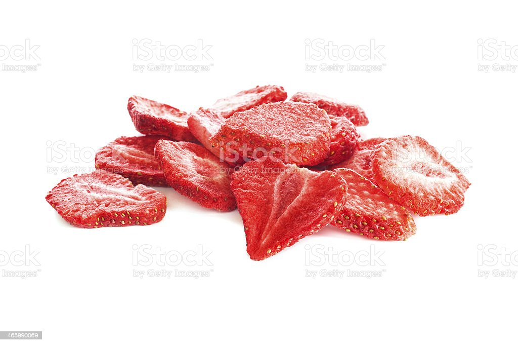 Freeze Dried Strawberry Slices stock photo