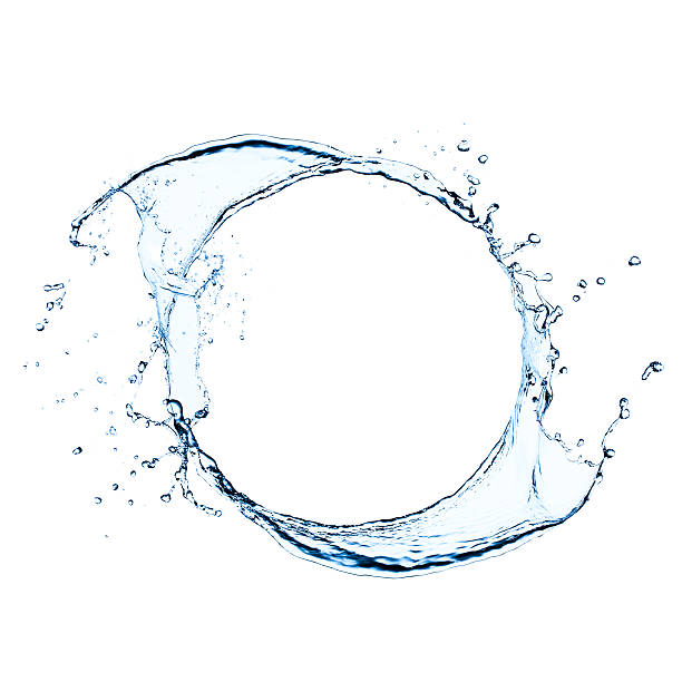 freeze frame photo of splashing water swirl - splashing stock photos and pictures