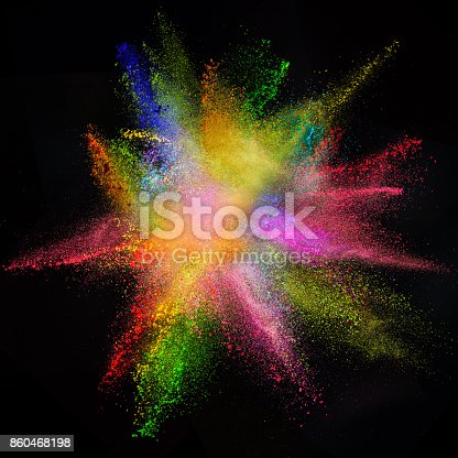 istock Freeze motion of colored dust explosion 860468198