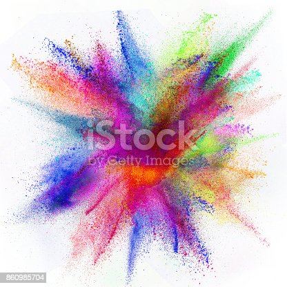 istock Freeze motion of colored dust explosion 860985704