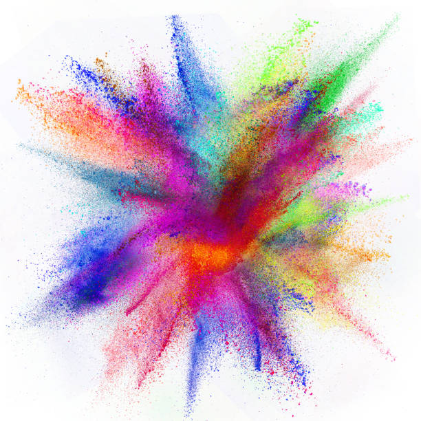 freeze motion of colored dust explosion - grand opening stock pictures, royalty-free photos & images