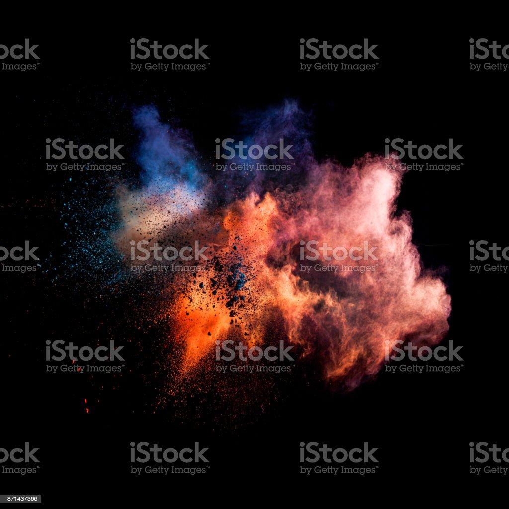 Einfrieren Film-Staub Explosion der Farben – Foto