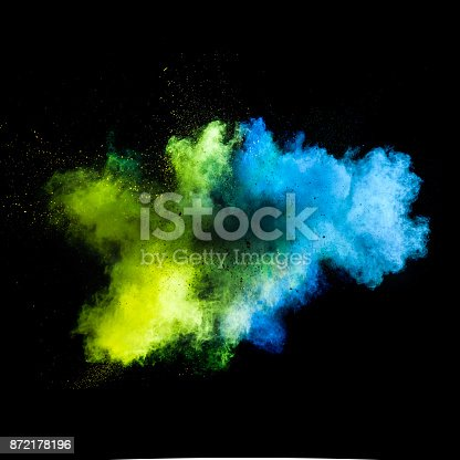 istock Freeze motion of colored dust explosion 872178196