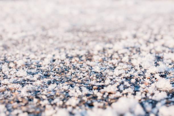 Freeze texture close up. stock photo
