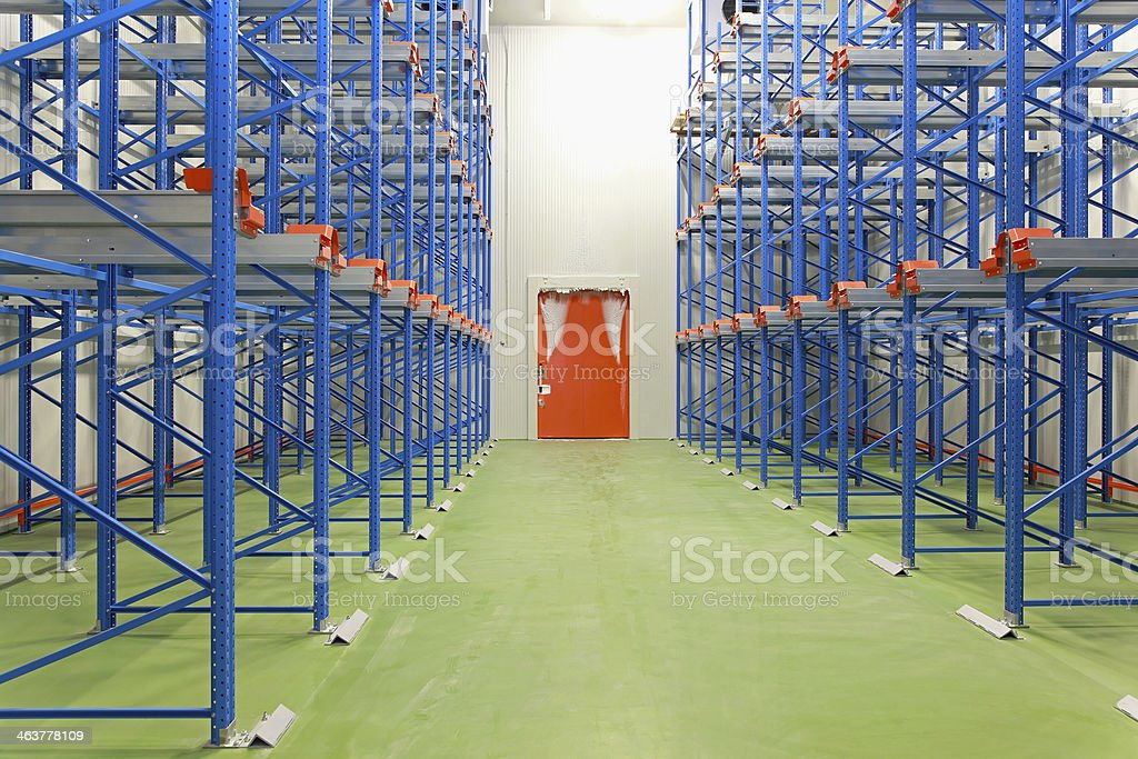 Freezer warehouse stock photo