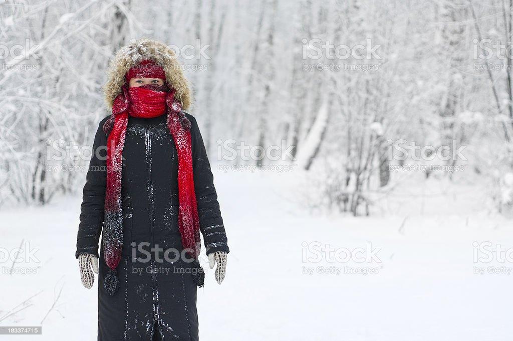 Freezing cold stock photo