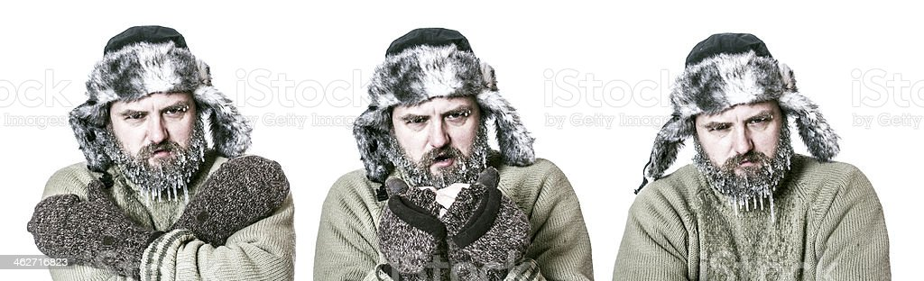 Freezing stock photo