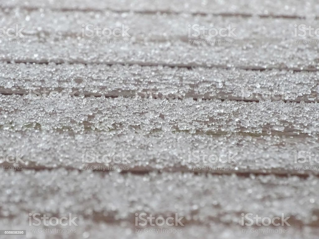 Freezing rain on a cold March day. stock photo