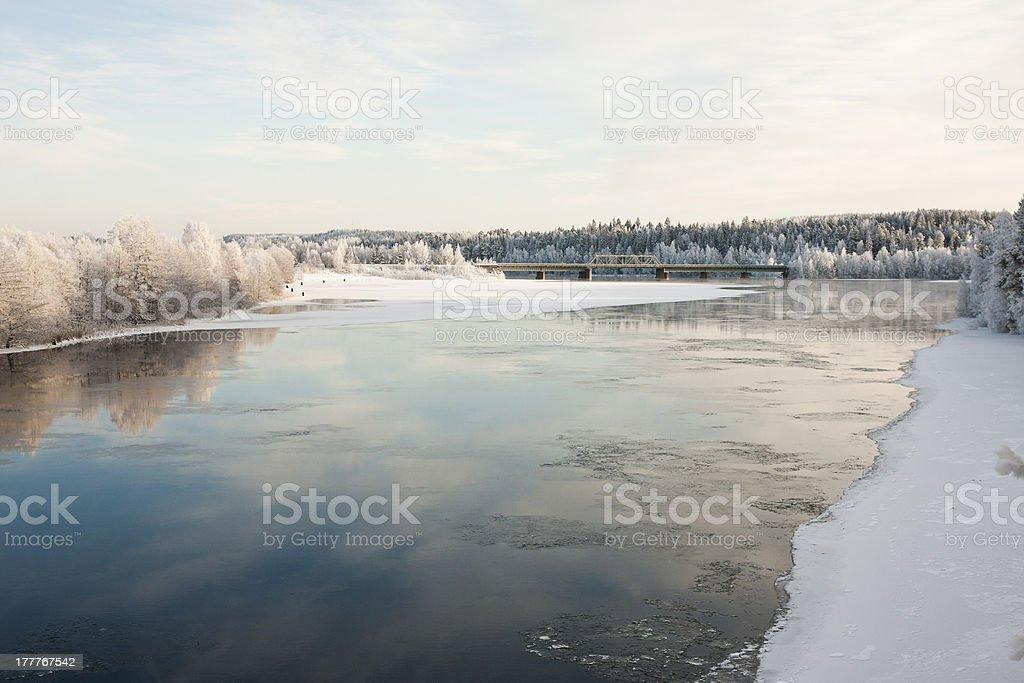 Freezing River royalty-free stock photo