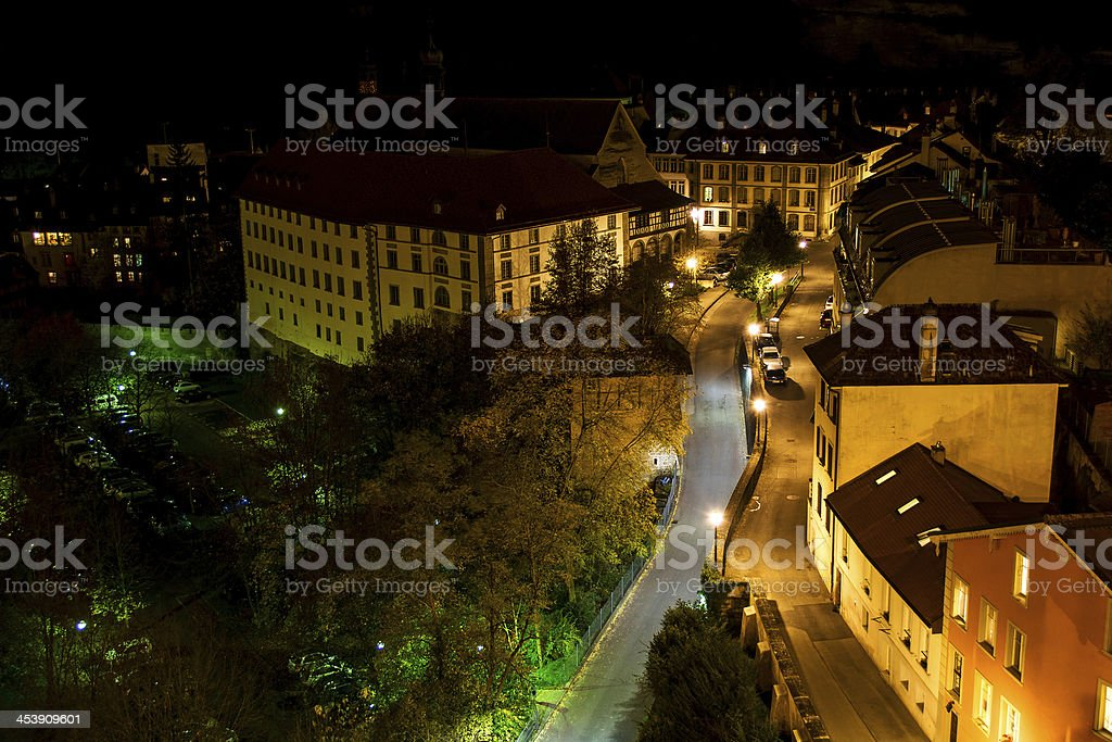 Freiburg By Night royalty-free stock photo