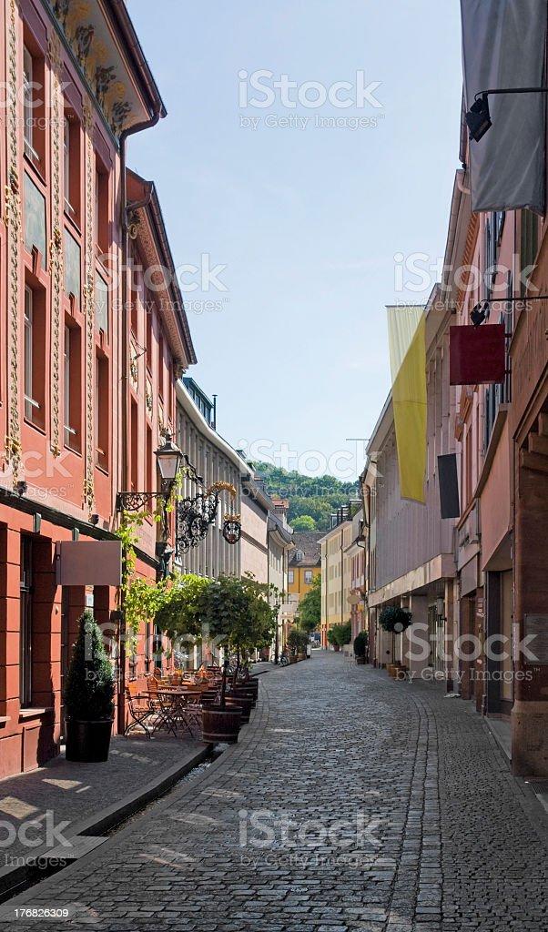 Freiburg im Breisgau street scenery royalty-free stock photo