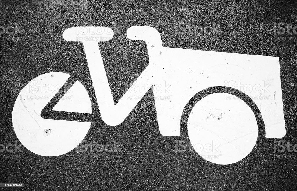 Freight bicycle parking royalty-free stock photo