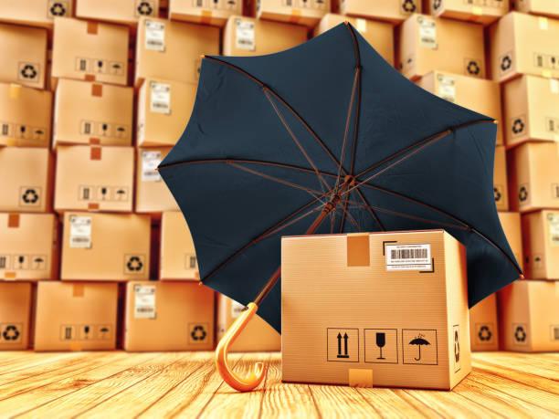 Fracht Cargo Schutz und Paket Qualitätssicherung Sicherheitskonzept – Foto