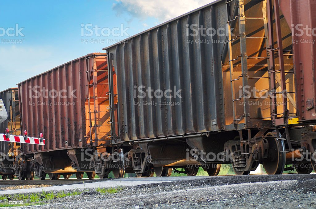 Freight cars royalty-free stock photo