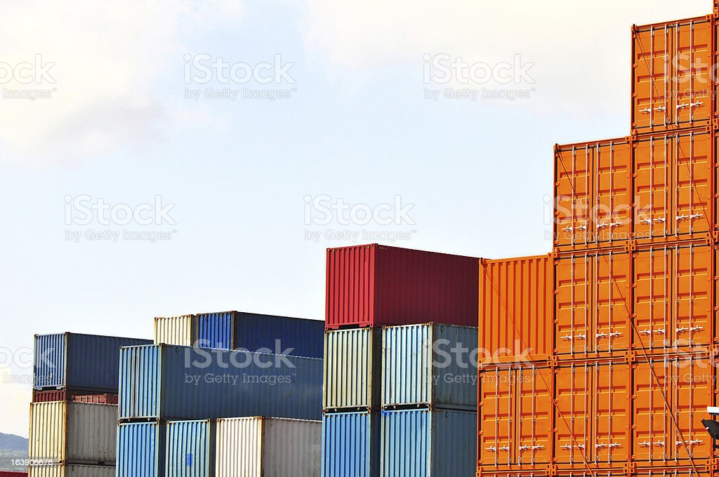 freight containers royalty-free stock photo