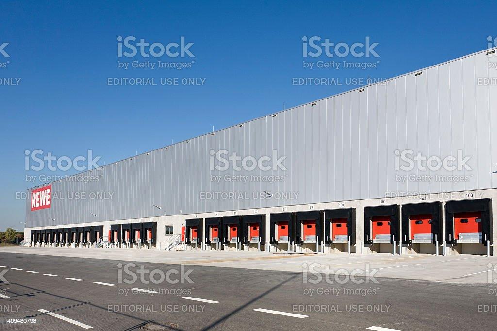 REWE freight distribution hub, Logistikzentrum stock photo