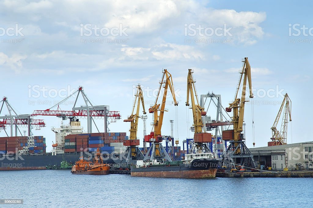 Freight port royalty-free stock photo