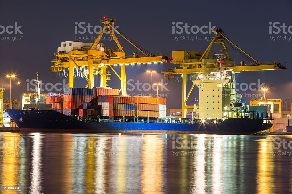freight ship stock photo