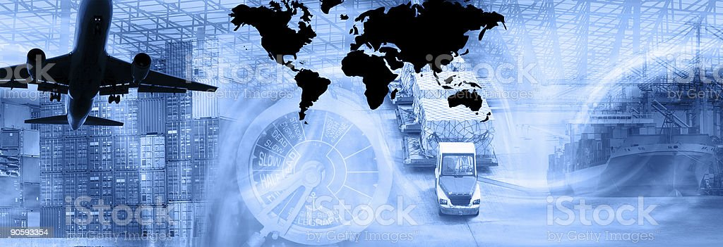 Freight Template-Blue royalty-free stock photo