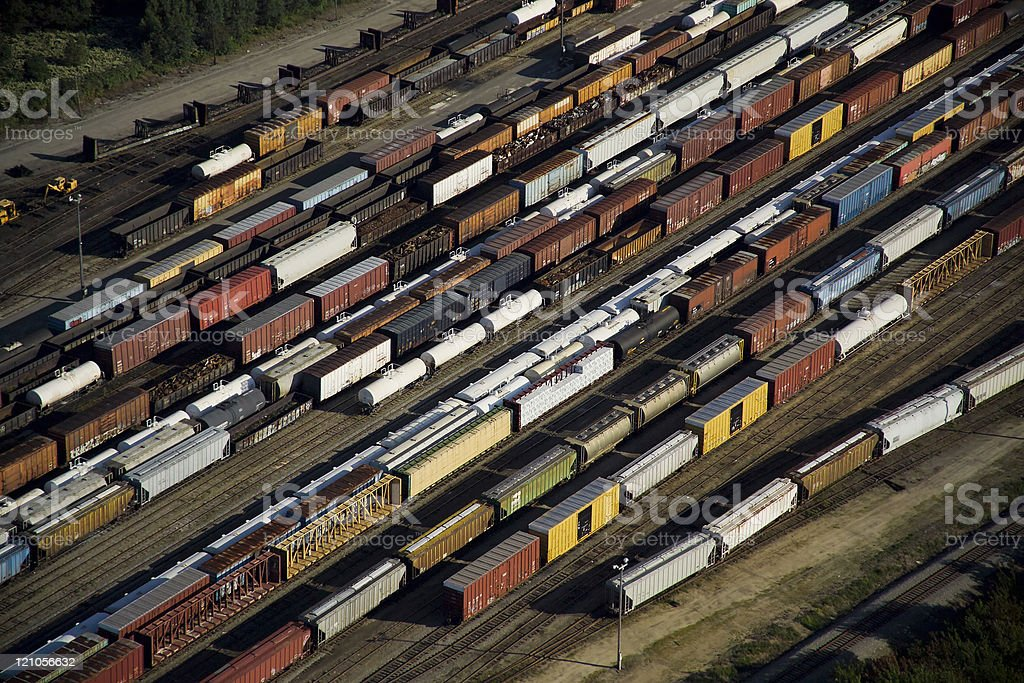 Freight Train Aerial royalty-free stock photo